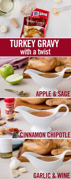 This holiday season, we're taking Turkey Gravy to rock star status - with creative ingredient twists like refreshing apple juice and warm cinnamon. Use these gravy recipe ideas to create gravy that compliments the flavor of all your Thanksgiving dishes.