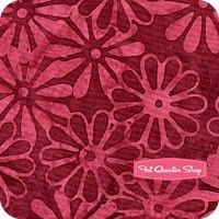 Riviera Batiks Red Velvet Daisies Yardage SKU# L2629-568