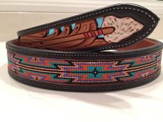 Cowgirl Belts, Western Belts, Custom Leather Belts, Leather Jewelry, Tooled Leather, Leather Tooling, Bead Loom Patterns, Beading Patterns, Beaded Belts