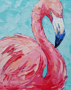 Bird painting acrylic - 40 Artistic Abstract Painting Ideas for Beginners – Bird painting acrylic Bird Painting Acrylic, Flamingo Painting, Unicorn Painting, Flamingo Art, Acrylic Painting Canvas, Acrylic Art, Painting & Drawing, Canvas Art, Knife Painting