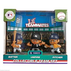 New York Yankees Lil Teammates Batter, Pitcher and Umpire Team Set Visit our website for more: www.thesportszoneri.com