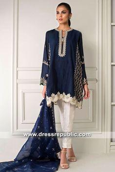 Picture of Embroidered block printed abha Pakistani Fashion Casual, Pakistani Dresses Casual, Pakistani Dress Design, Indian Dresses, Indian Outfits, Indian Fashion, Trajes Pakistani, Fashion Magazin, Vetement Fashion