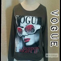 VOGUE Cute top would look great paired with skinny jeans for a casual look.  Army green color and brand new. Tops Tees - Long Sleeve