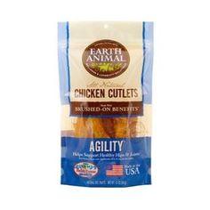 Earth Animal Agility Chicken Jerky Dog Treats, 8 Ounces - BD Luxe Dogs & Supplies - 1
