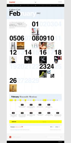 Inquiring Mind magazine web design #calendar #graphic_design