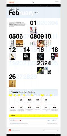 Inquiring Mind magazine web design #calendar #graphic_design