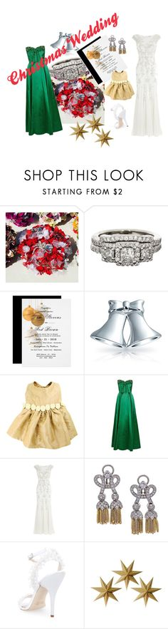 """""""Christmas Wedding"""" by jroy1267 on Polyvore featuring Bling Jewelry, Monsoon, Oscar de la Renta and LumaBase"""