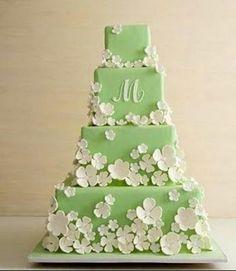 My next wedding cake. Cake Wrecks - Home Square Wedding Cakes, Square Cakes, Wedding Cake Designs, Wedding Ideas, Cake Wrecks, Beautiful Wedding Cakes, Beautiful Cakes, Amazing Cakes, Mint Green Cakes