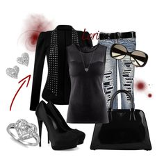 I would definitely rock this look baby!!!  Untitled #217, created by lori-347 on Polyvore