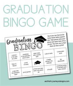 Graduation BINGO Game