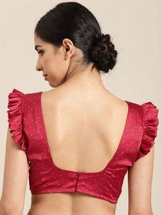 Ruffle sleeve blouse design - The handmade craft Simple Blouse Designs, Stylish Blouse Design, Designer Blouse Patterns, Fancy Blouse Designs, Bridal Blouse Designs, Saree Blouse Designs, Hijab Outfit, Blouse Designs Catalogue, Estilo Kylie Jenner