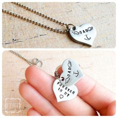 Forever in my Heart Necklace - Loss of a Loved One - Remembrance Jewelry - Anchor Necklace