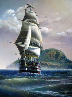 artist Sorokin Yuri, Battleship 12 Apostles