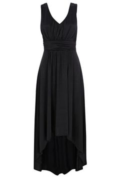 Wallis US Black Grecian High-Low Maxi Dress