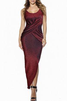 Sexy Scoop Neck Sleeveless Slimming Asymmetrical Dress For Women