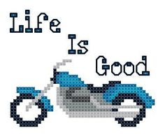 Harley Davidson Motorcycle Life is Good Counted by TheGiftMarket, $3.00