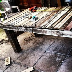 Wooden pallet table #PalletTable
