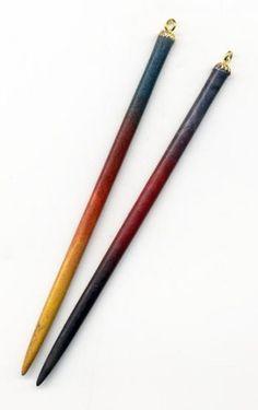 Hair Sticks   Flamewood  Michael Schwab Exclusives