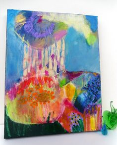 Abstract Art Original Painting on Canvas by kerriblackmanfineart.etsy.com