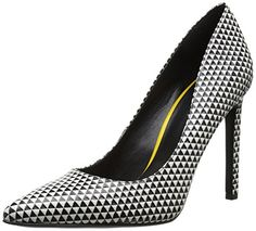Nine West Women's Tatiana Leather Dress Pump, Black/White Textured Leather, 6.5 M US - http://all-shoes-online.com/nine-west/6-5-b-m-us-nine-west-womens-tatiana-leather-dress-9