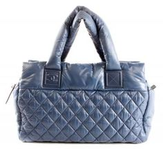 Authentic Chanel Blue Nylon Cocoon Tote $1300