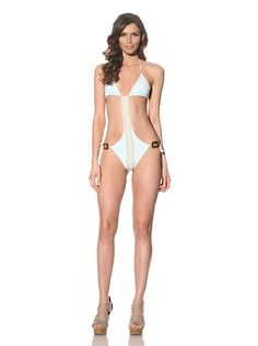 String Monokini by undrest Swimwear - I'm sexy and I know it. This monokini shows off you curves and lines so well. It is stringy and sexy. Hunks's eyes will be popping out of their heads when they see you come out of the water wearing this.