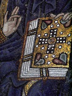 Byzantine mosaic detail in Hagia Sophia, Istanbul
