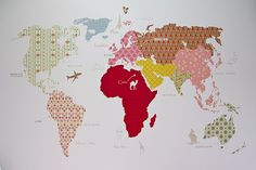 adorable map for wall in kid's room!