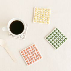 とっても簡単手作りコースターキット|編み物キットオンラインショップ・イトコバコ