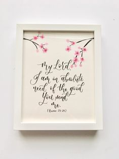 Calligraphy Tutorial, Arabic Calligraphy Art, Hand Lettering Styles, Hand Lettering Quotes, Cherry Blossom Watercolor, Islamic Wall Decor, Islamic Posters, Islamic Paintings, Drawing Journal