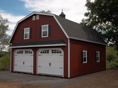 We just Love this Gambrel Doublewide Garage!