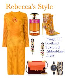 """Pringle Of Scotland Textured Ribbed-knit Dress"" by rebeccadavisblogger ❤ liked on Polyvore featuring Pringle of Scotland, Sole Society, Forever Creations USA, Marni, Jessica Carlyle and Prada"