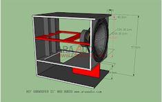 √ Skema Box WONDER Horn W218 Subwoofer Mantap - ARA AUDIO 15 Inch Subwoofer Box, Electronic Circuit Projects, Speaker Box Design, Speaker Plans, Car Audio, Monitor, Storage, Model, Klipsch Speakers