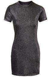 PETITE Glitter High Neck Bodycon Dress