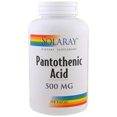 Solaray, Pantothenic Acid, 500 mg, 250 VegCaps The Human Body, Ursula, Hemoglobin Levels, Pantothenic Acid, Milk Protein, Nutritional Supplements, Amino Acids, How To Relieve Stress, Metabolism