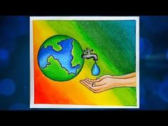 How to draw Save water.Step by step poster on save water. - YouTube Save Water Drawing Images, Save Water Images, Save Water Poster Drawing, Save Earth Drawing, Drawing For Kids, Poster On Save Water, Oil Pastel Drawings Easy, Oil Pastel Art, Oil Pastels