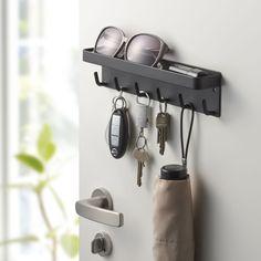 Nøgleholder med bakke - sort