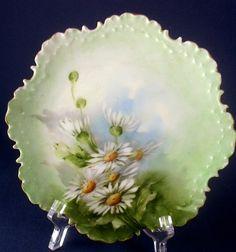 Antique Rosenthal Hand Painted Daisies Cabinet Plate Monbijou ~ Bavaria 1896-1907  $102