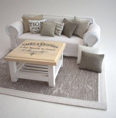 Coffee Table 1:12 Scale French Provincial Shabby Chic Modern
