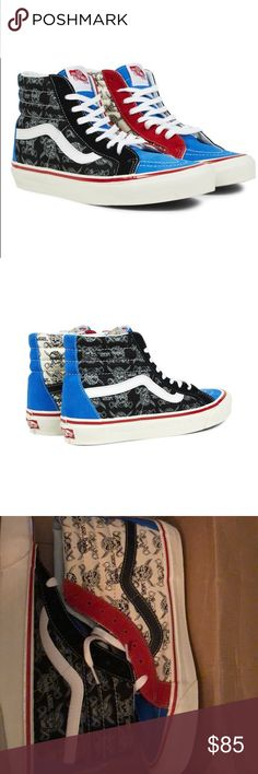 13b22cbb650 Vans 38 Reissue Pirate Skulls Rare size 12 Brand New In Box