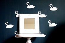 Swan Preppy Pattern Wall Decals