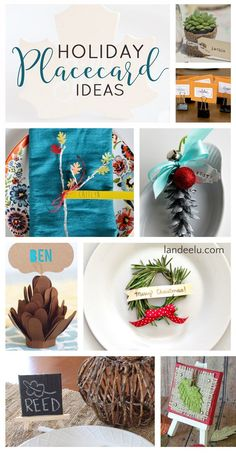 Holiday DIY Placecard Ideas - So many creative and pretty place cards for your holiday dinner this year!