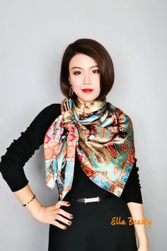 Ways To Tie Scarves, Ways To Wear A Scarf, How To Wear Scarves, Scarf Wearing Styles, Scarf Styles, Scarf Knots, Diy Scarf, Mode Outfits, Chic Outfits