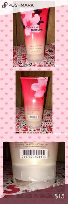 8oz Japanese Cherry Blossom Body Wash Brand New, unused Bath && Body Works Japanese Cherry Blossom Creamy Body Wash. 8oz bottle. Only flaw is lid is broke but not off (see pics) BBW Makeup
