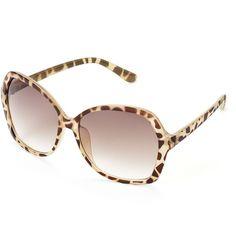 LC Lauren Conrad Palos Verdes Tortoise Oversized Square Sunglasses