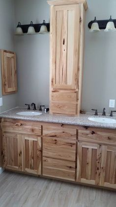 Rustic Hickory Bathroom Vanity Cabinets Rustic Hickory Appears Again In This Lower