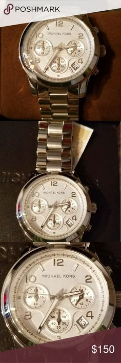 Michael Kors Watch for Men or Women New in Box New in Box with Tags Michael Kors Watch Silver and Beautiful on. Michael Kors Collection Jewelry