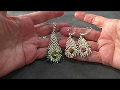 beads jewelry making Bead Jewellery, Beaded Jewelry, Beaded Bracelets, Silver Jewelry, Jewellery Stand, Silver Ring, Seed Bead Tutorials, Beading Tutorials, Feather Earrings