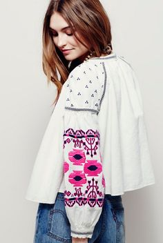 Embroidered Swingy Jacket | Free People