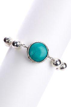 Turquoise Tibetan Bead Bracelet